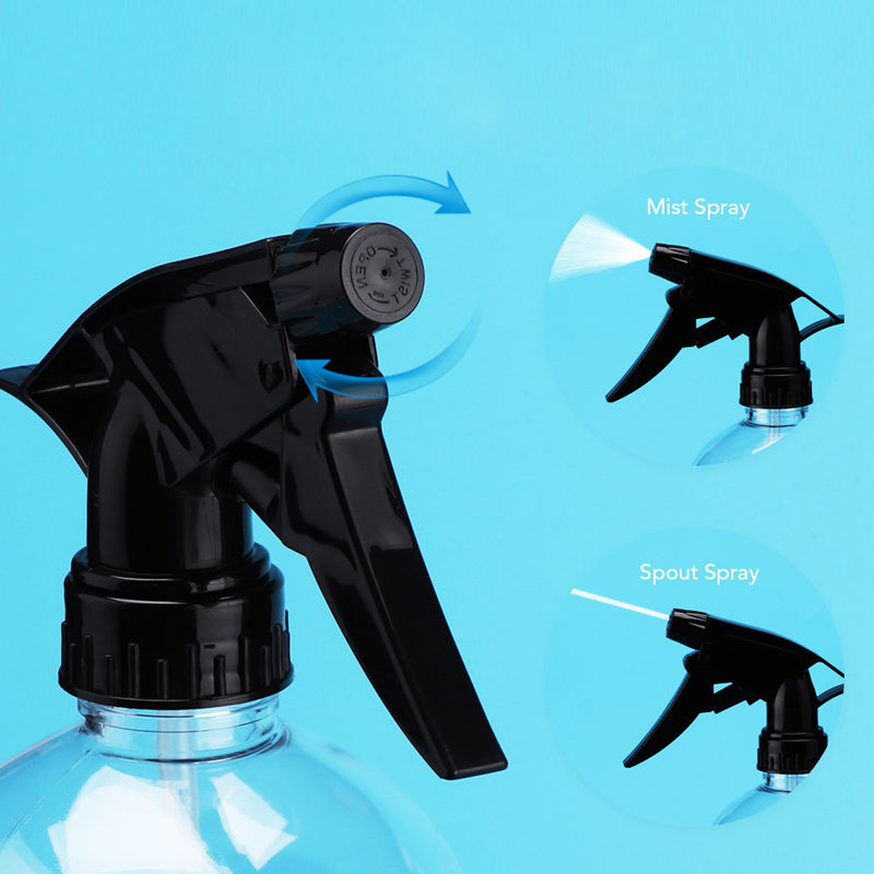 Home Cleaning 28/400 Bottle Nozzle Replacement Black Plastic 28mm Mist Trigger Sprayer