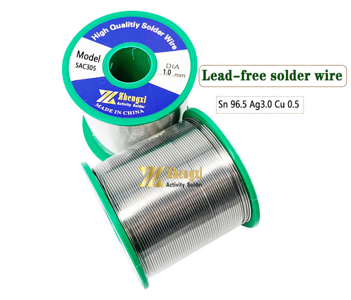 ZHENGXI High-end welding wire Sn 96.5 Ag 3.0 Cu 0.5 Solder Wire 1kg 0.6mm 0.8mm 1.0mm with sliver lead-free solder wire