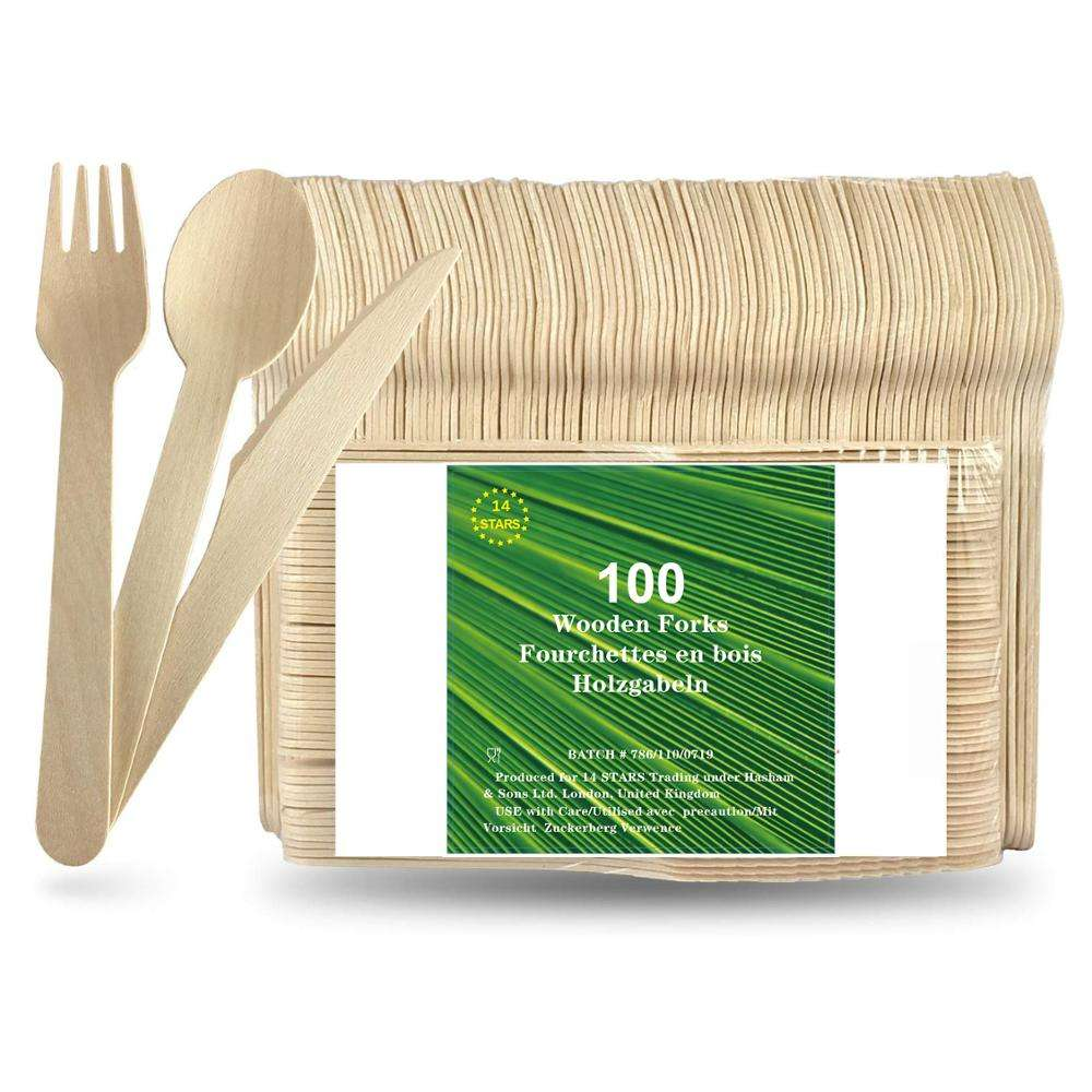 Hot Sale Eco Friendly Biodegradable Compostable Wooden Forks Wooden Cutlery By First Choice