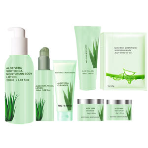 New designed high quality organic your private label nature aloe vera series skin care product