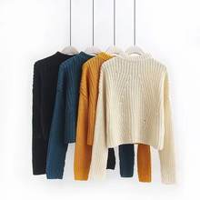 sweater for crop tops sweaters long sleeve pullovers for women's winter wear