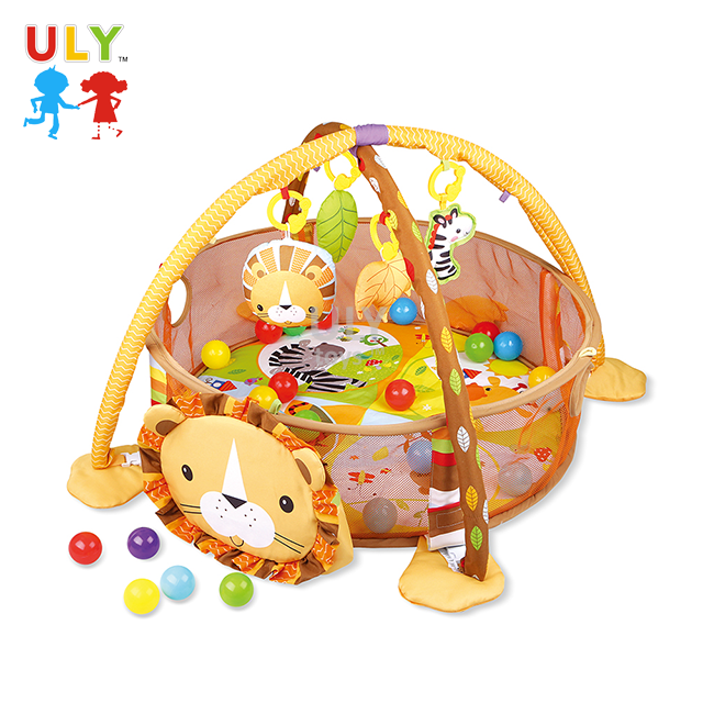 High quality lion shape gym baby play mat multifunctional cute baby crawling carpet foldable