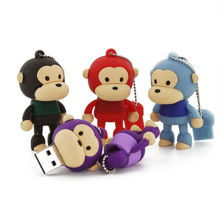 innovative giveaways usb pen drive monkey shape memoria usb 8gb