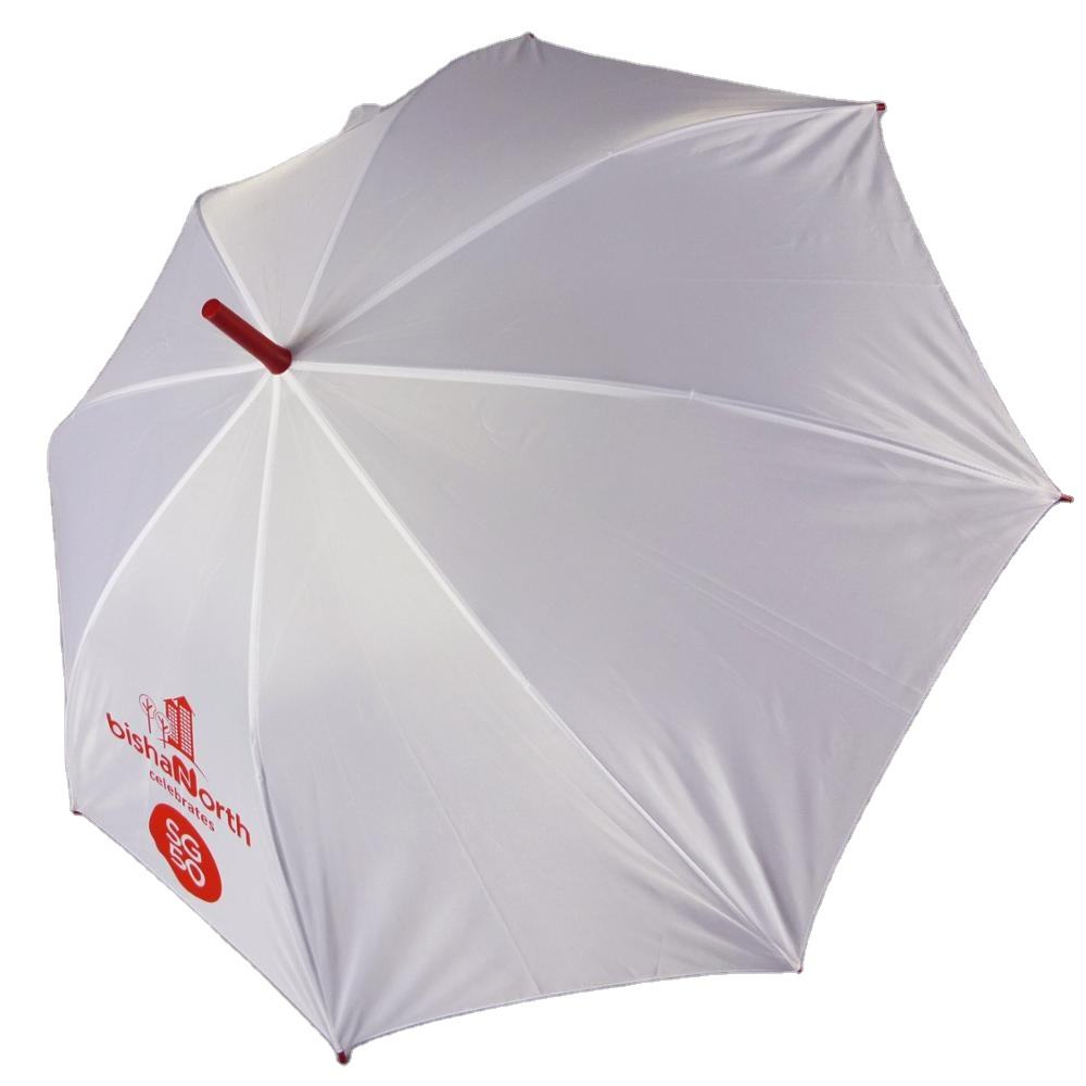 advertising golf umbrella suit for all kinds of people,run for straight umbrella