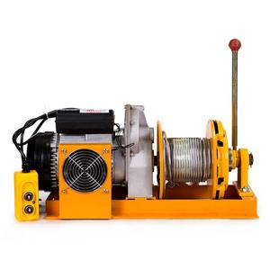 220v household clutch lifting hoist winch micro electric small crane