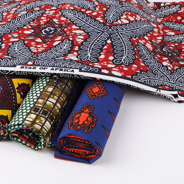 Wholesale pure cotton Holland African Ghana wax print fabric for clothing