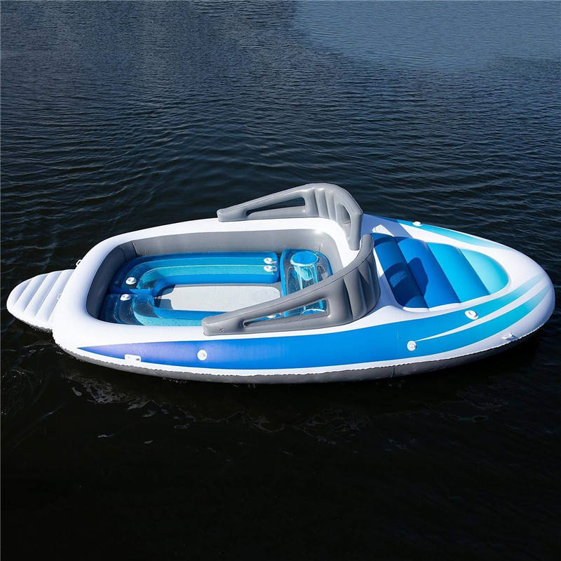 Manufacturer custom PVC TPU large 6 people water inflatable yacht Drift boat