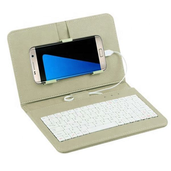 Wired Keyboard Flip Holster Case Cover 4.8-6.0 inch Android OTG universal protection mobile phone leather keyboard