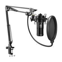 OEM Factory mic Professional Recording Microfono Streaming USB Condenser Microphone Kit With Arm Stand