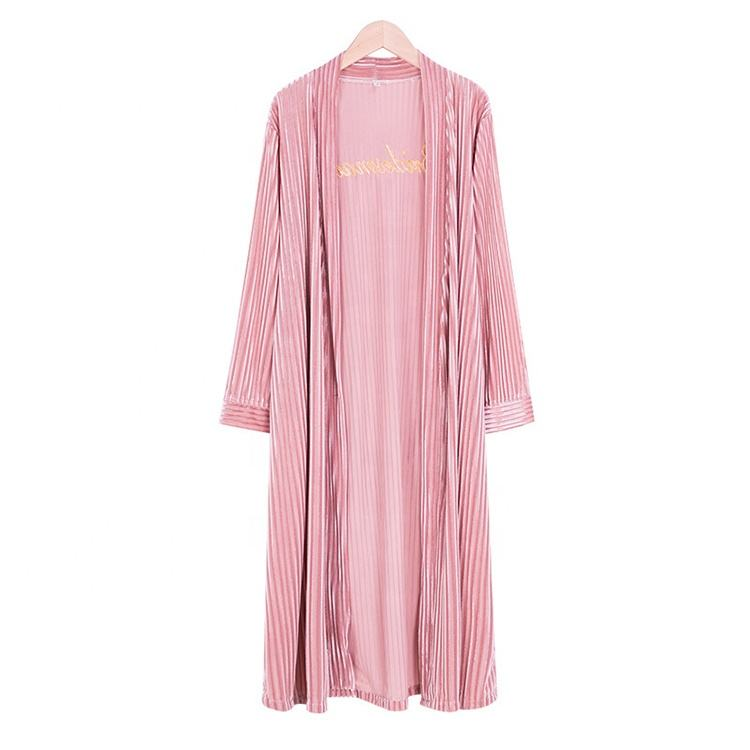 ขายส่ง Kimono bath Robe pleuche Solid Wedding Bridesmaid Robes ชุด
