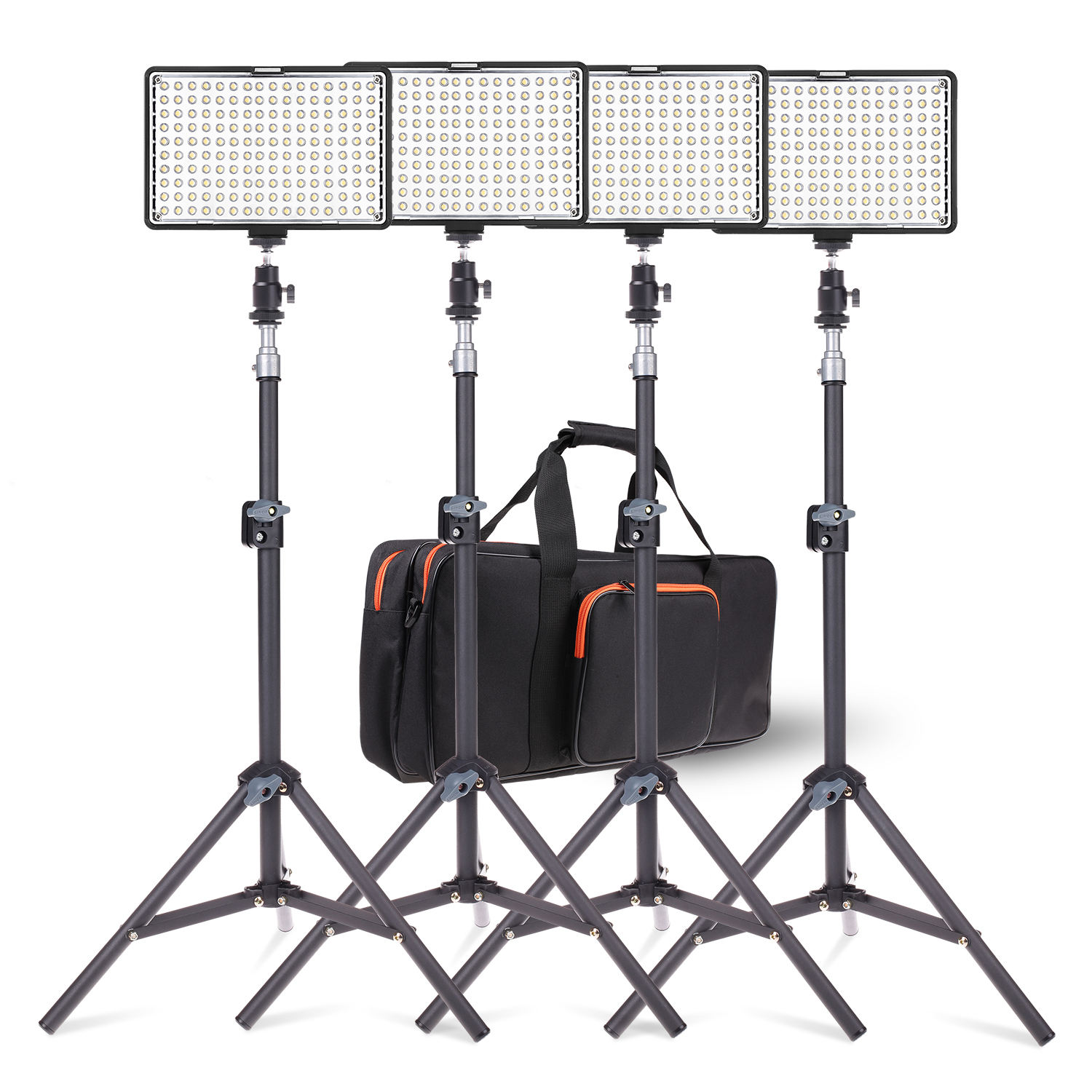 TRAVOR TL-160S 4 set 3200k-5600k video lighting photographic equipment camera studio bi-color led video fill in panel light kit