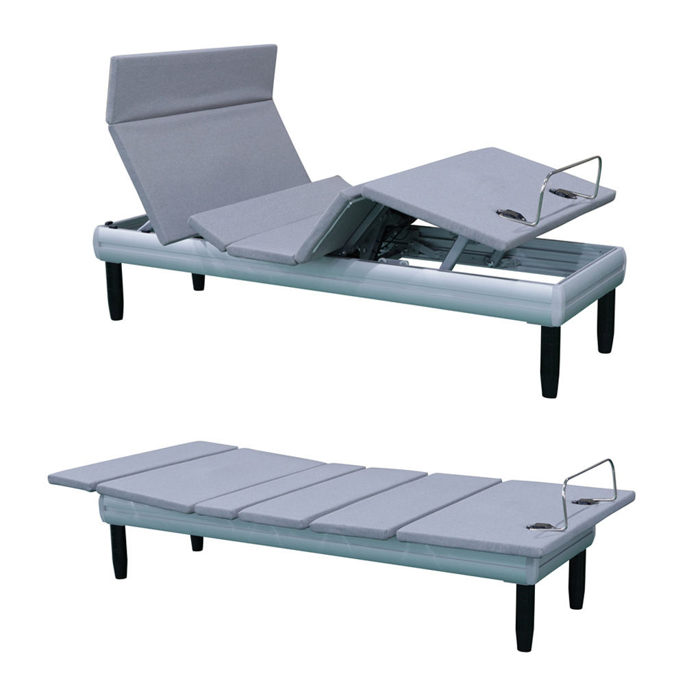 OEM ONE STOP SOLUTIONS luxury mechanical adjusterble aluminum electric bed frame