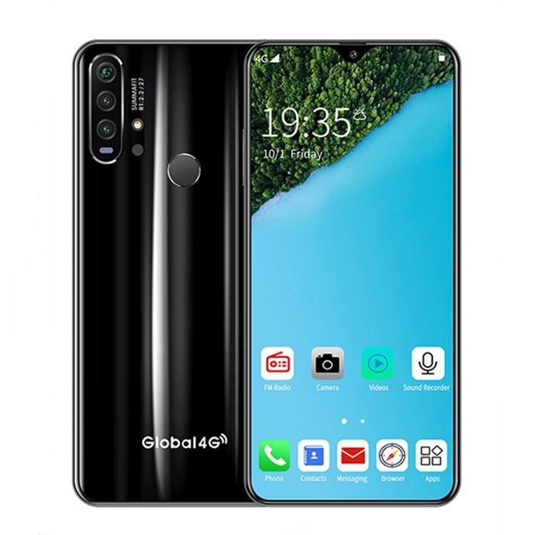 6.3 Inch R30 PRO Smart Phone 8 Core Mobile Phone 3 + 64 8 + 256G Android OS 9.0 4G携帯電話8.0 + 21.0メガピクセルFingerprint Face ID