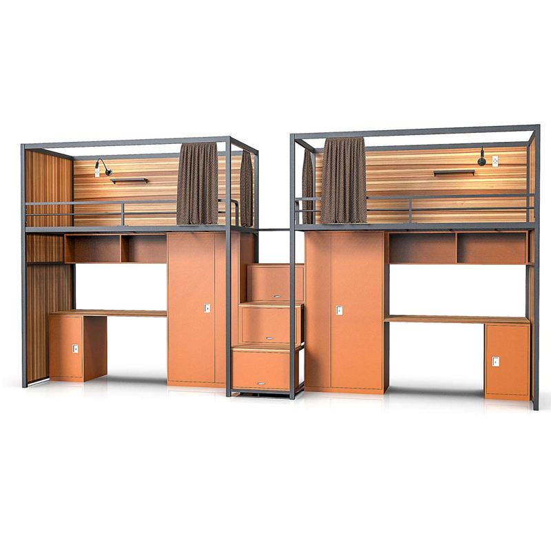 Bunk Beds Hotels Steel Hotel Apartment Student And Staff Dormitory Bunk Bed Furniture Set With Wardrobe Lockers And Desk