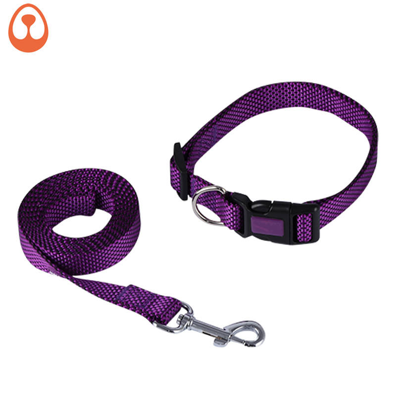 pet suppliers new design beatiful dog collar dog leash set for dog