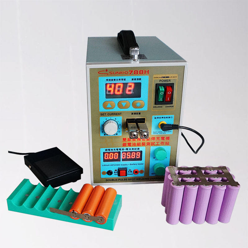 SUNKKO 788H Spot Welder 1.5KW Multifunction Pulse Spot Welding Machine 18650 Battery Packs Welding Lithium Battery Charging Test