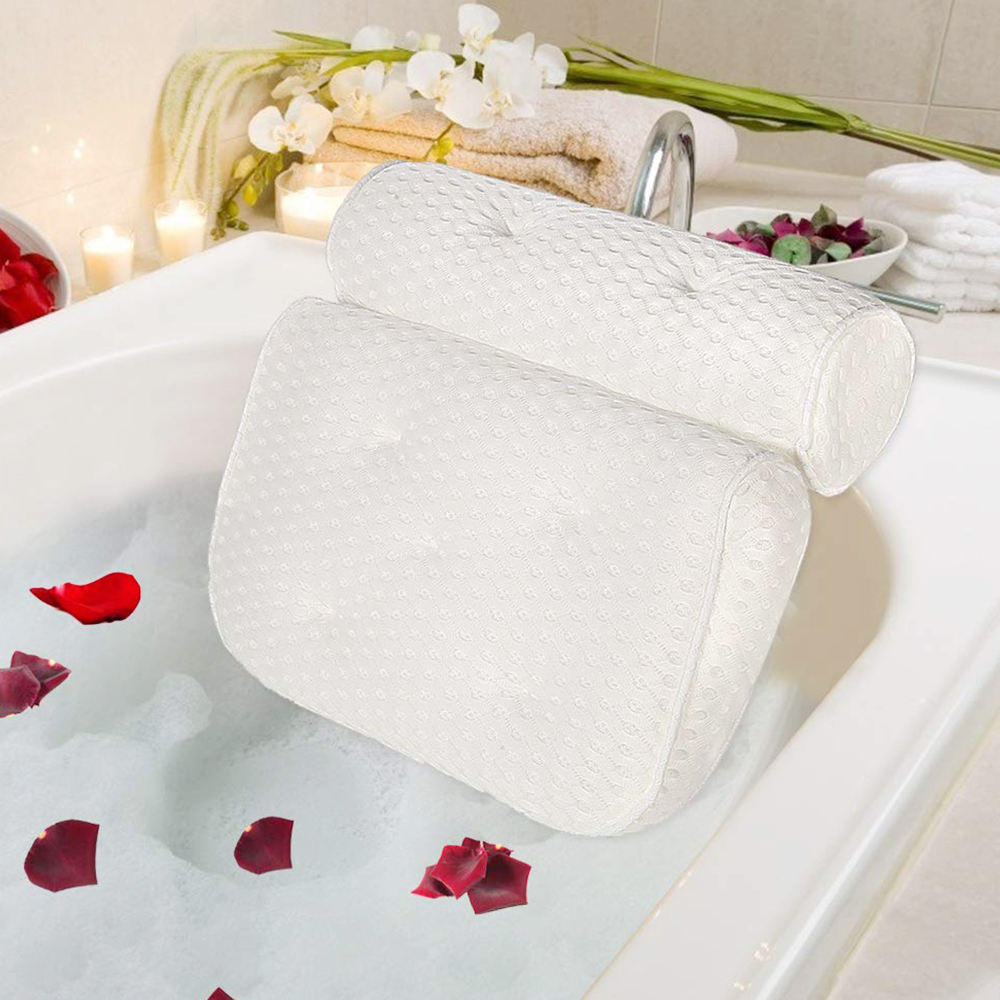 WP03 GRS Patented product design 3D air mesh washable soft spa bath pillow