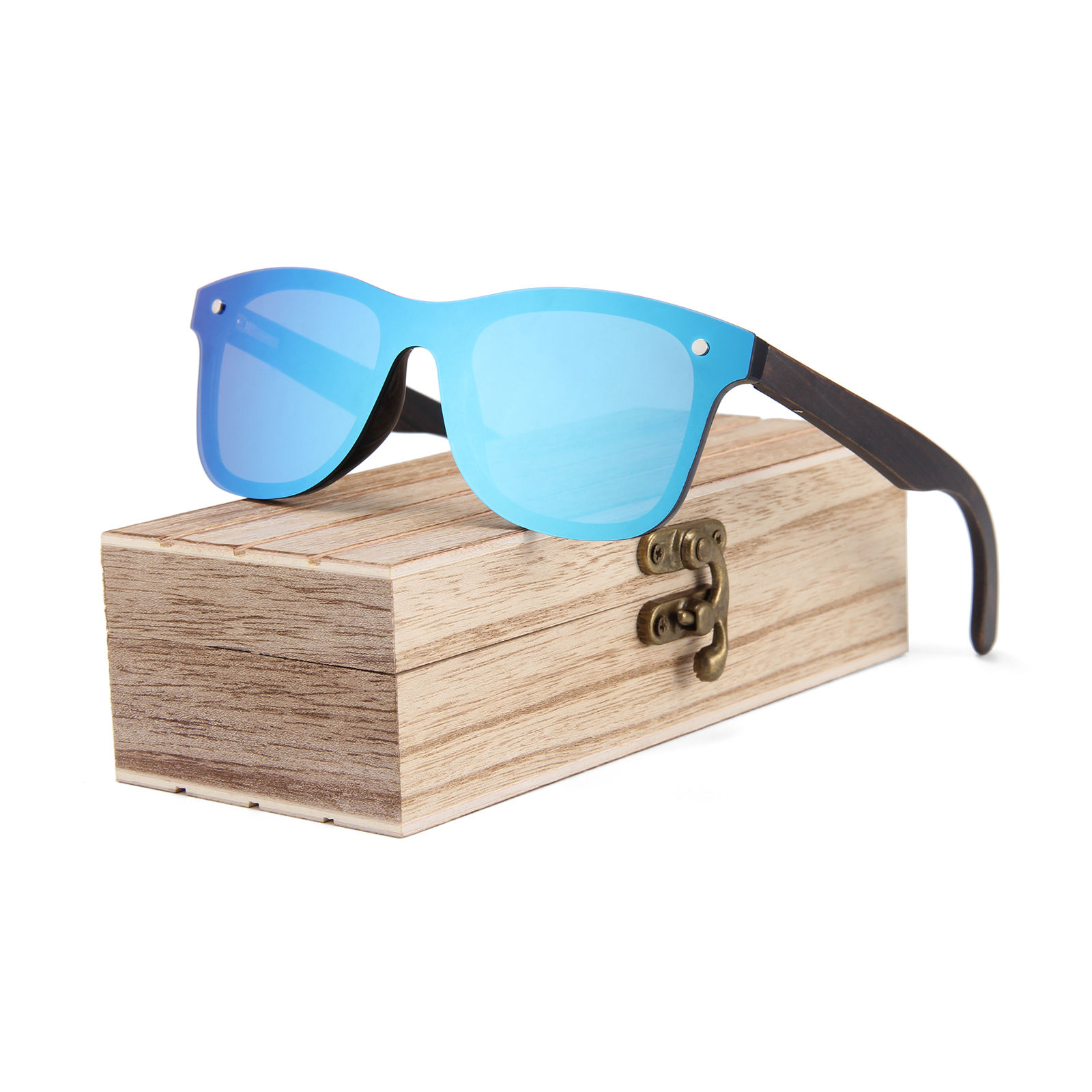 Fashion custom logo bambu temple sun glasses wooden polarized sunglasses 2020