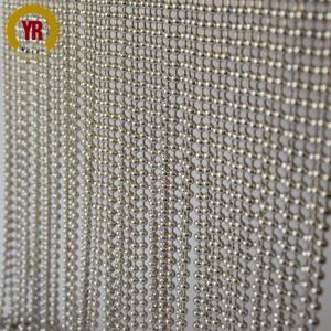 wholesale cheap Silver beaded curtain