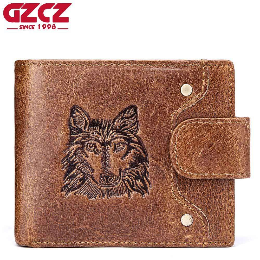 Best-selling Unique animal pattern multi-functional genuine leather men wallet coin packet card holder men wallet