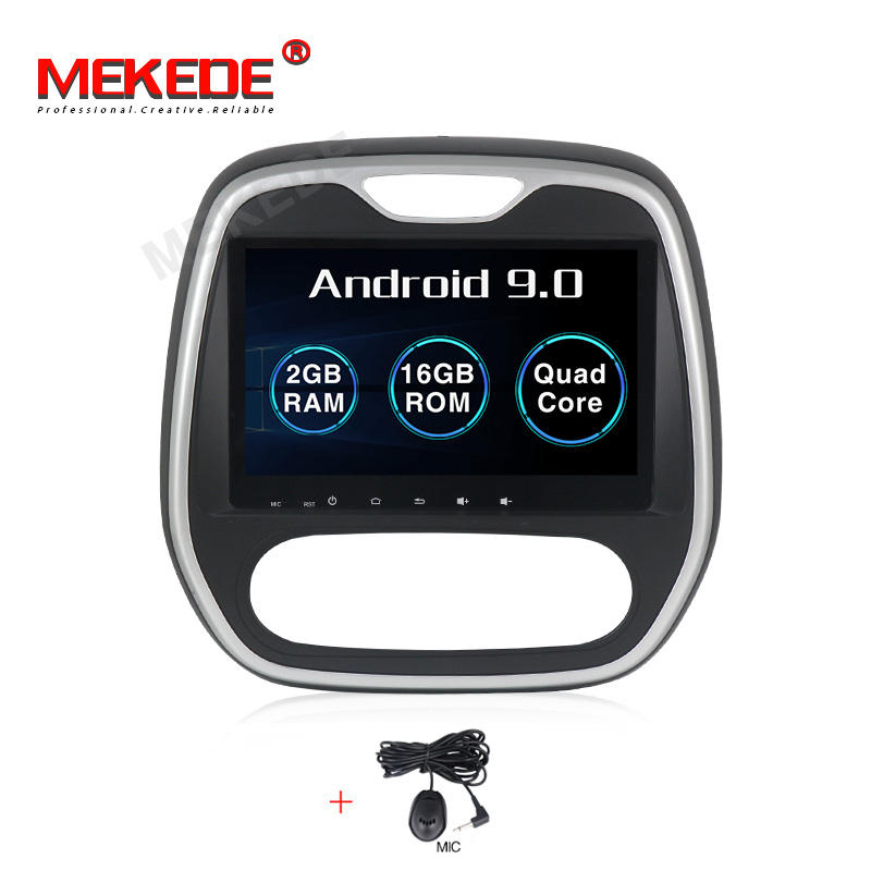 MEKEDE PX3 Android 9.0 quad core android auto dvd-speler voor Renault Captur clio samsung 2011 handleiding 2 + 16GB GPS video radio BT