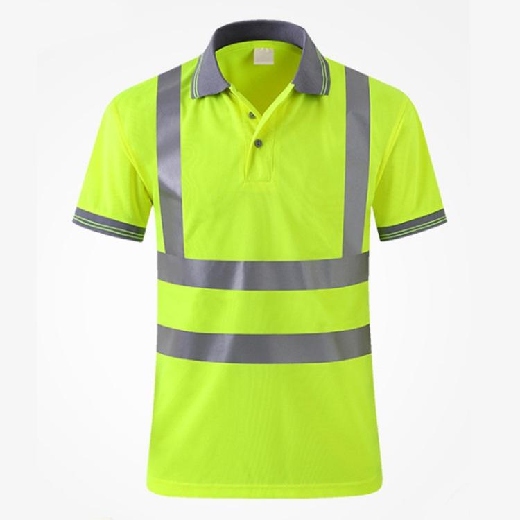 Summer safety vest reflective Polo shirt