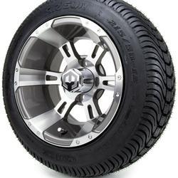 "12"" Ambush Gunmetal Golf Cart Wheels and Tires (215-50-12) - Set of 4"