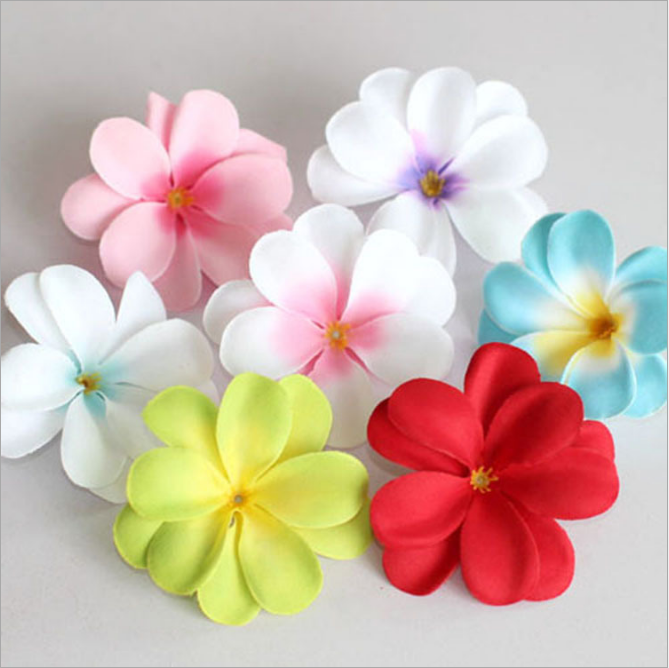Wholesale EVA Foam Plumeria Flowers Artificial Frangipani Real Touch Plumeria Flowers for Hat Decoration