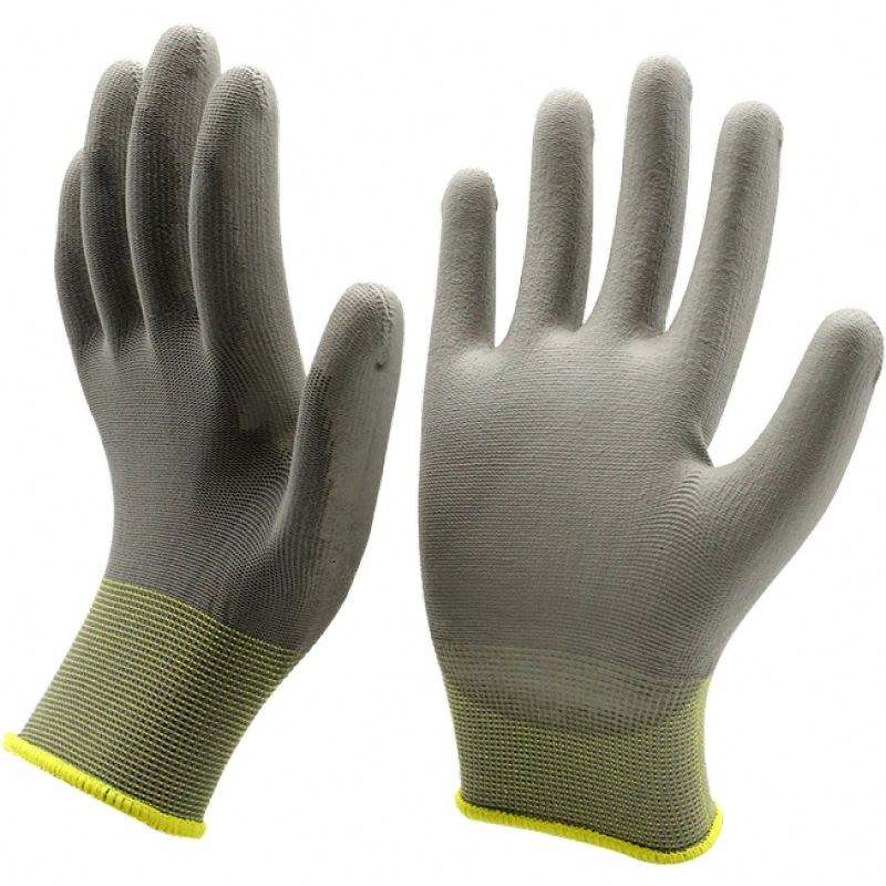 Customized Color Gauntlet Cuff And Natural White Color Working Pu Glove For Welding Use