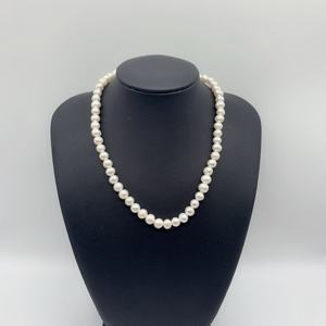 Accessories decoration cultured real fresh wtaer white round natural pearls beads