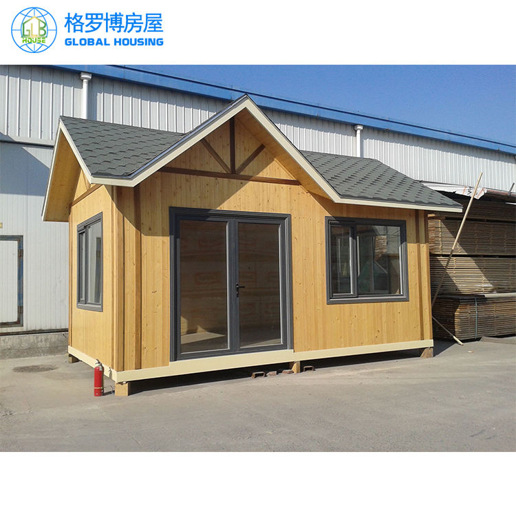 wooden house steel frame structure construction fast install cottage easy assembled home real estate container house