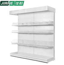 Wall Mounted System Supermarket Display Stand Steel  Shelving Used In Supermarket