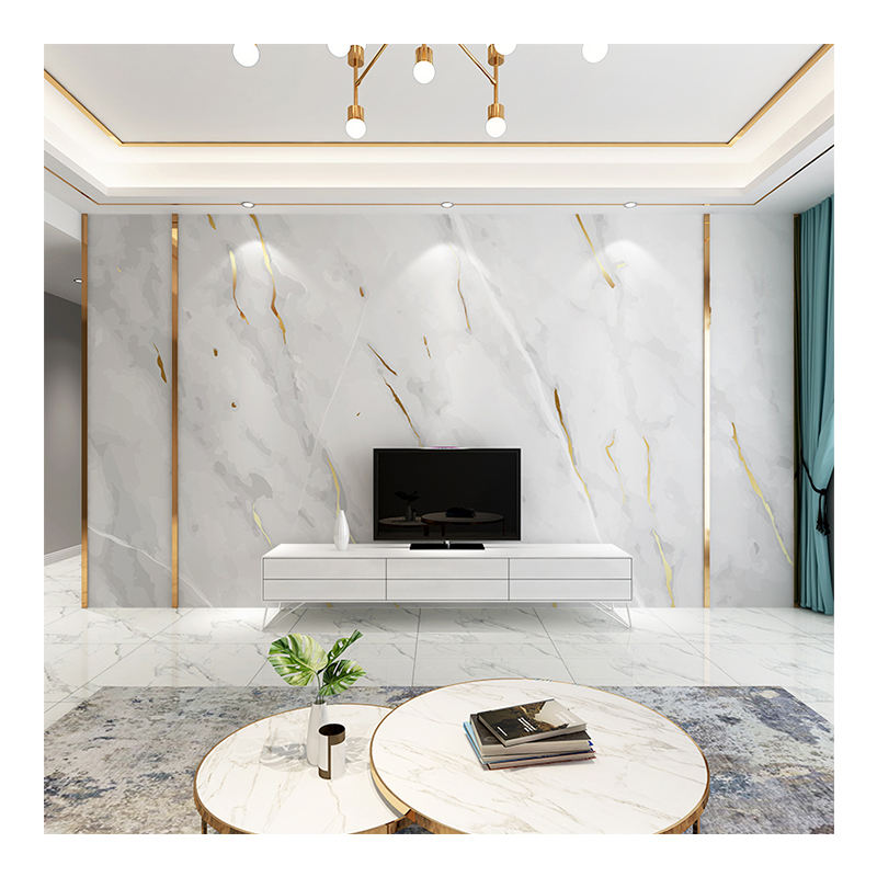 3D Marble wallpaper TV background wall bedroom sofa custom