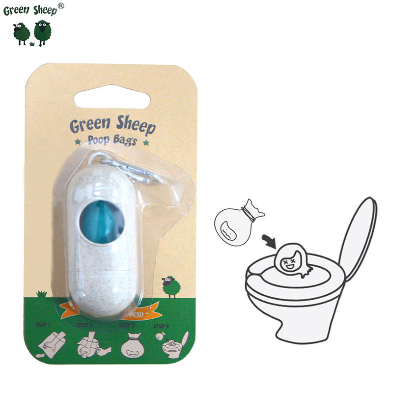Corn Scented Flushable Bulk Private Dispenser Value Easy Open Extra Pet On Rolls Attached Leash Dog Poop Bags