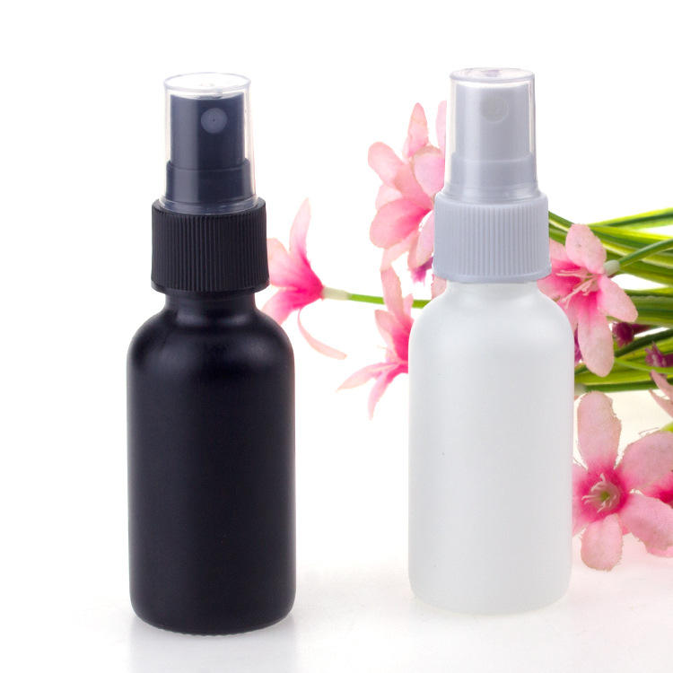Wholesale 30ml frost black or matte white glass spray bottle