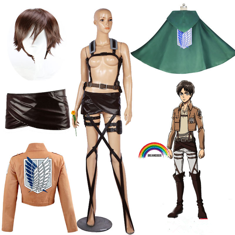 Cape d'anime No Kyojin, vêtements fantaisie de Cosplay, attaque sur titan, sweat à capuche Eren Scout, manteau de légion