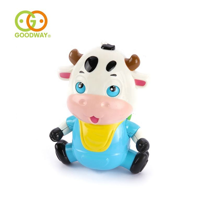 pure sound lovely cow pull string toys bed hanging baby bell