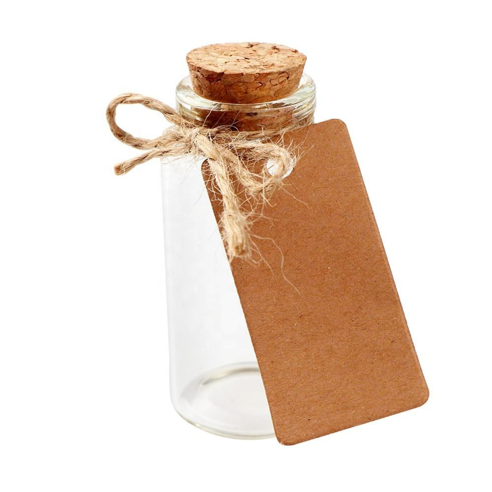 For Gift [ Bottles ] OurWarm Wedding Party Supplies 25ml Cork Stoppers Mini Small Glass Bottles With Label Tags Strings Stickers