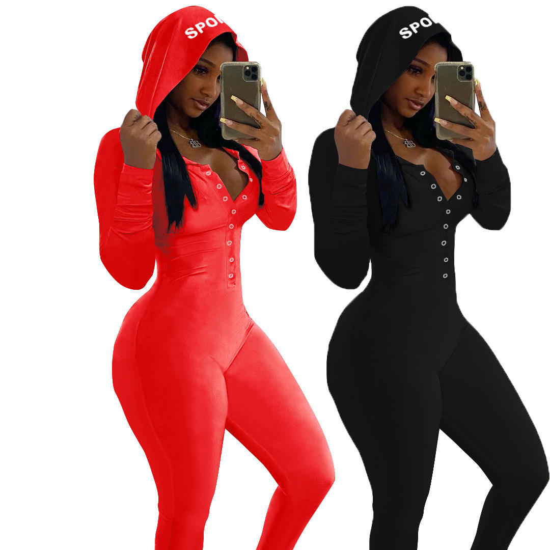 2021 Cozy Knit Jumpsuit Rompers Custom Long Sleeve Onsies Adult Solid Pajama Onesie Womens With Hooded