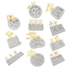 Amazon Hot Sale Bow Series Bowknot DIY Gumpaste Silicone Fondant Molds Silicone Chocolate Mold