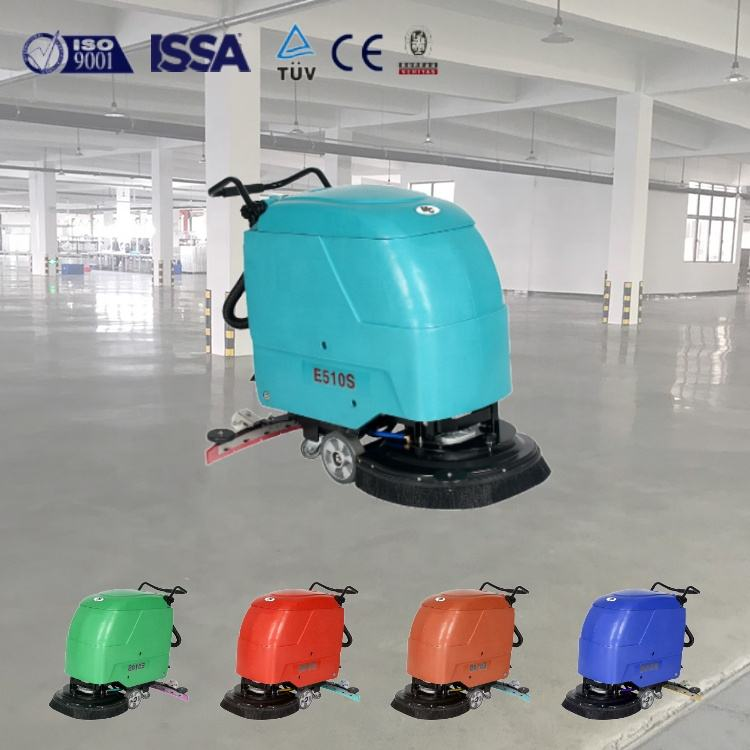 E510S small automatic industrial electric walk behind manual office floor cleaning dryer equipments