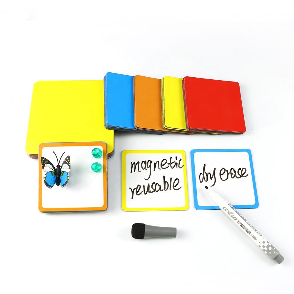 Custom Printed Sticky Notes Dry Erase Mini Colorful Office Whiteboard Funny Label Fridge Memo Magnetic Note Pad
