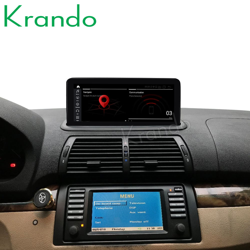 Krando Android 9.0 4G 32G 10.25'' Car Navi Auto Audio for BMW E53 X5 1998-2006 Radio Multimedia Player GPS WIFI