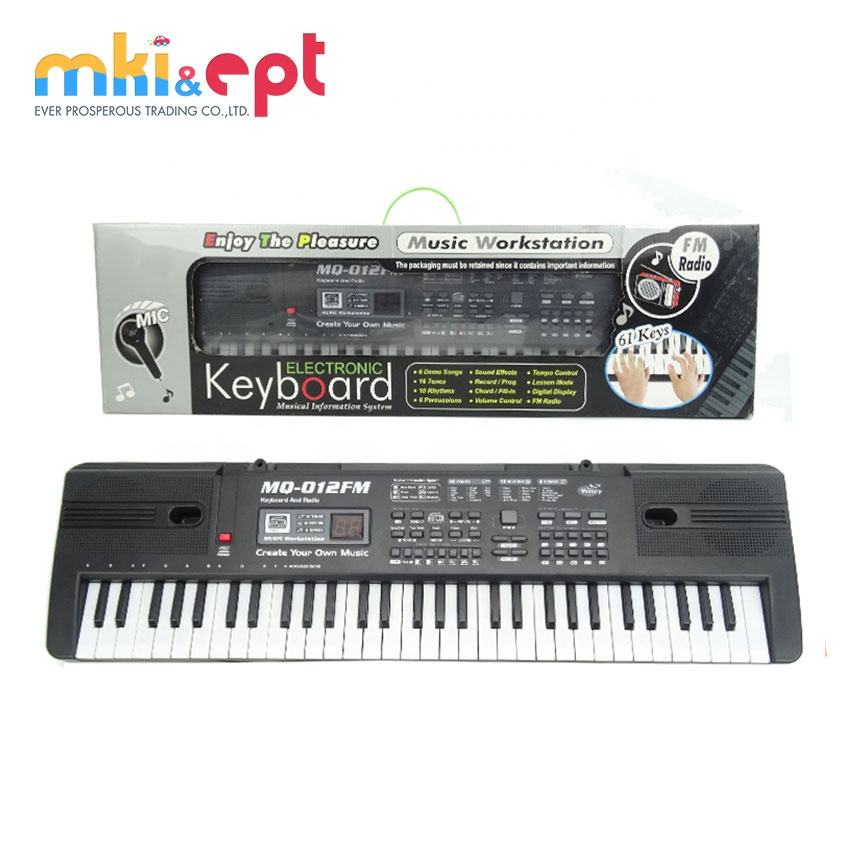 Electronic keyboard toy piano music instruments with microphone