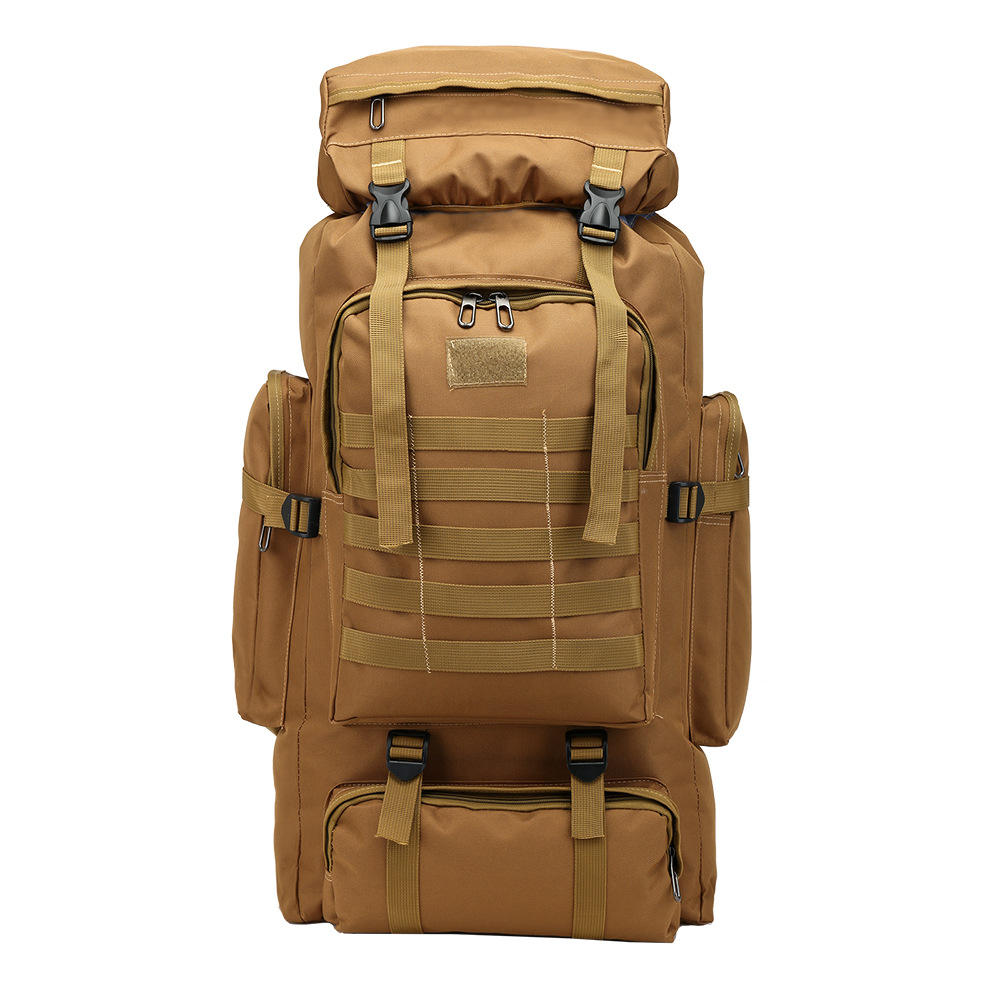 Hot Sale 80L Waterproof Hiking Trekking Bag Rucksack Military Camouflage Backpack