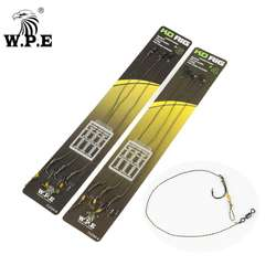 W.P.E Carp Fishing Hair Rig 3Pcs/1Set 4#/6# Ready Made Hook with Boilie Stoppers Carp Fishing Line Group Fish Tackle