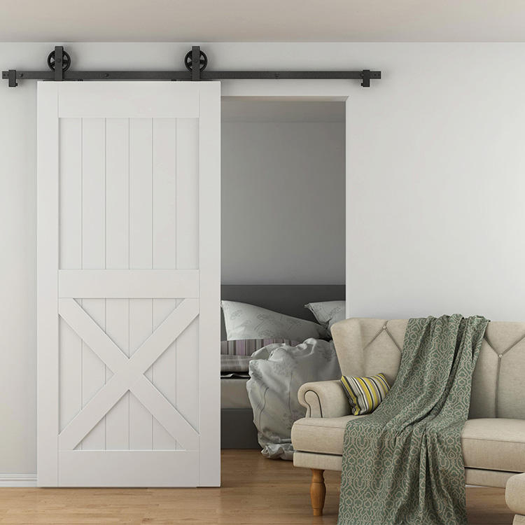 Easy Stall Solid Wood Sliding Barn Door Panel Automatic Wood sliding Door with barn door hardware kit