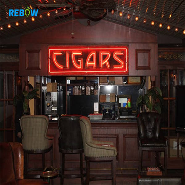 Rebow Manufacturer OEM Custom Cigar Taxi Neon Sign