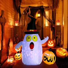 OurWarm LED Light Waterproof 5FT Halloween Yard Inflatables Decoration Pumpkin For Party