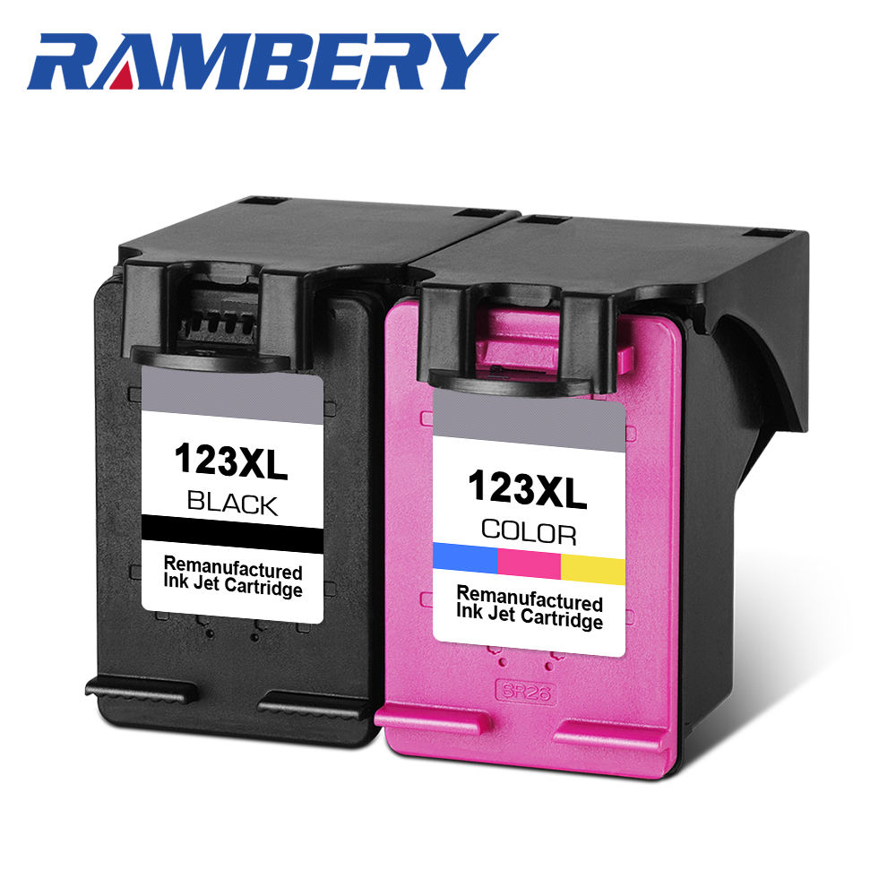 RAMBERY 123XL Cartridges Replacement for hp 123 xl hp123xl Ink Cartrige for Envy 2620 1110 2130 2132 3630 3632 4520 5010 5020